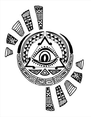 Aztec design - black