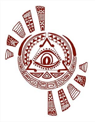 Aztec design - brown